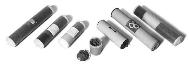 Deionization filters and resin